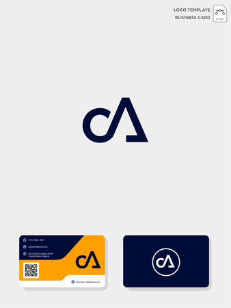 initial CA or AC creative logo template and business card include. vector illustration and logo inspiration