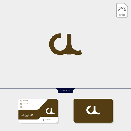 Premium initial CL, LC, C or L creative logo template and business card design template include. vector illustration and logo inspiration