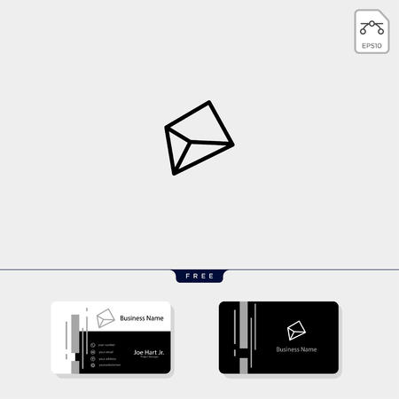 outline gem stone, crystal, geometric creative logo template vector illustration and logo inspiration. business card design template include. Illusztráció