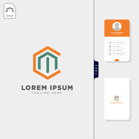 initial C,Cm,CH logo template vector illustration, free business card design template