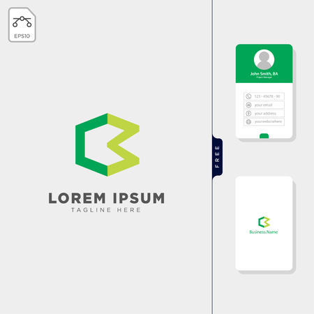 initial C,Cm,CH logo template vector illustration, free business card design template 向量圖像