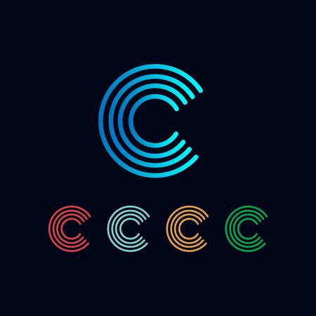 Letter C Set Logo template vector illustration ready use for technology, business, monogram designs - vector