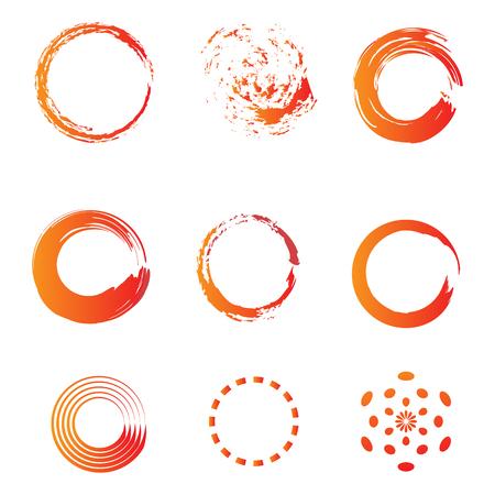 Kreisbürste Wasserfarbe Symbol Vorlage Vektorgrafik, einsatzbereit für Infografik, Banner, Broschüre oder andere Druckprodukte
