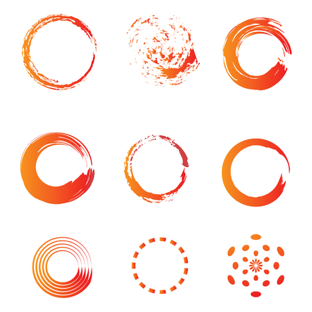 circle brush water color icon template vector illustration, ready use for infographic, banner, brochure or other print product Illustration