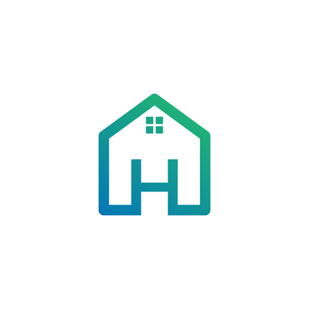letter h architect, home, construction creative logo template, icon isolated elements