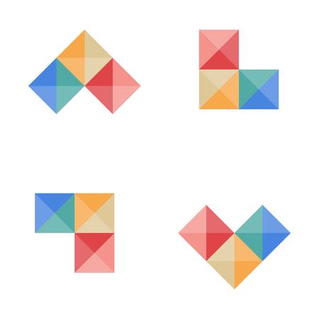 accounting, finance creative logo template vector illustration, icon elements - vector Illustration