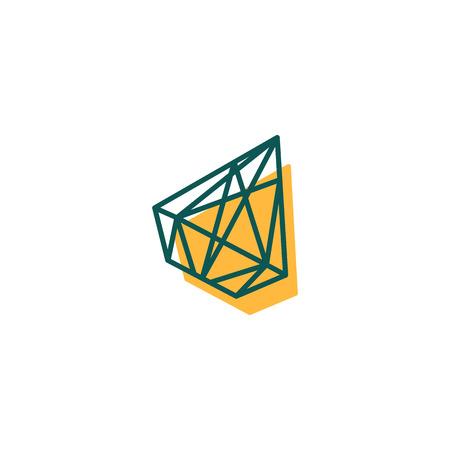 stone, diamond, gem creative logo template, icon isolated elements vector illustration
