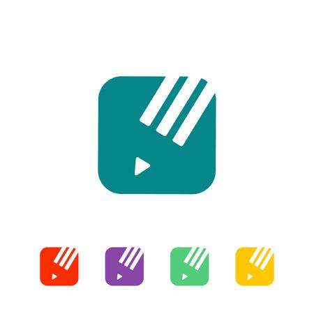 education, graduate logo template vector illustration, icon isolated elements