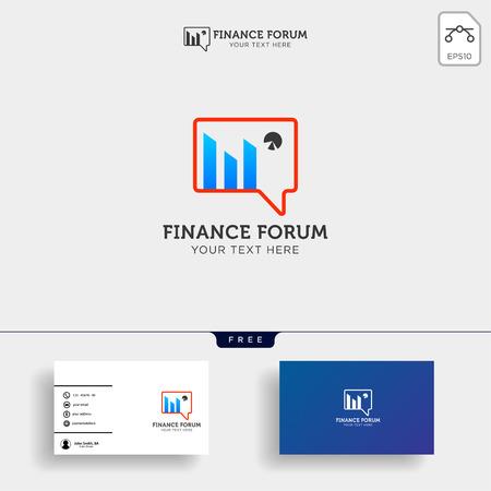 Contabilidad, finanzas vector de plantilla de logotipo creativo aislado con diseño de tarjeta de visita - vector