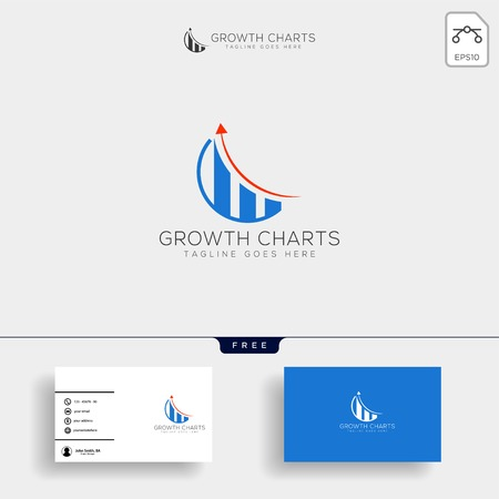 accounting, finance creative logo template vector isolated with business card design - vector Logos