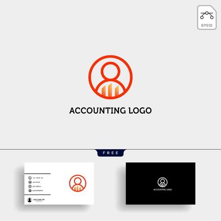 Contabilidad, finanzas vector de plantilla de logotipo creativo aislado con diseño de tarjeta de visita - vector Logos