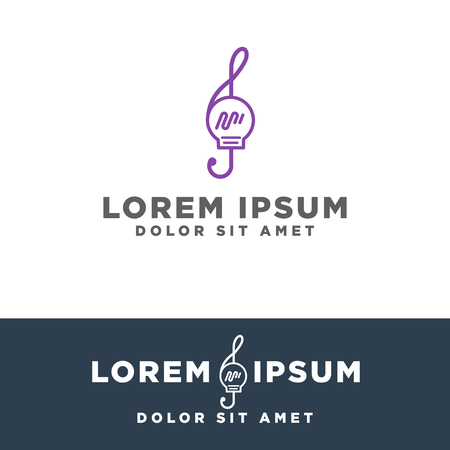 music idea creative logo template vector illustration, icon elements isolated