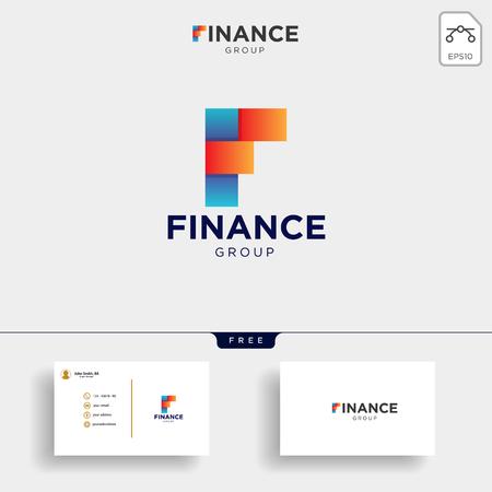 Ilustración de vector de plantilla de logotipo contable y financiero, elemento de icono con tarjeta de visita - vector Logos