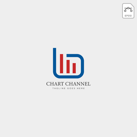 charts financial graphic logo template vector illustration icon elements isolated - vector Logó