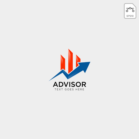 charts financial graphic logo template vector illustration icon elements isolated - vector Logos