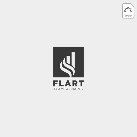 flame chart statistic logo template vector illustration icon elements isolated