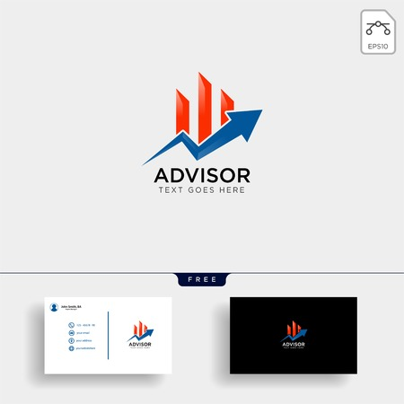 charts financial graphic logo template vector illustration icon elements isolated - vector