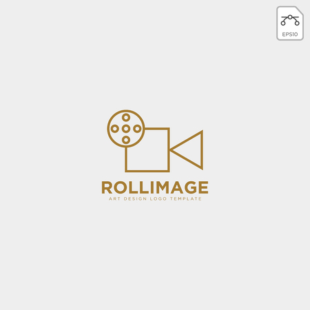 video recorder fil studio logo template vector icon element - vector