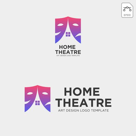 home theater mask actor logo template vector icon element - vector Logo