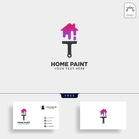 elemento de icono de vector de plantilla de logotipo colorido de pincel de pintura - vector