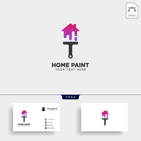 paint brush colorful logo template vector icon element - vector
