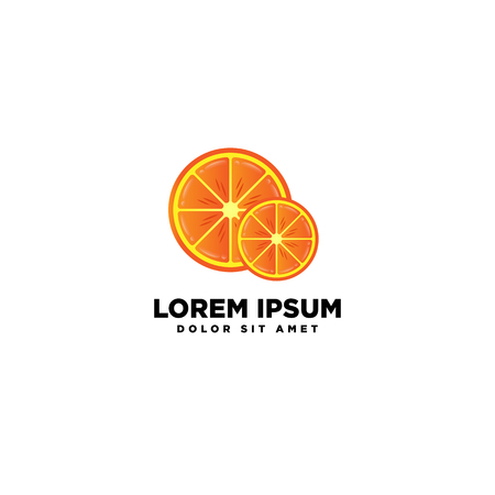 orange logo template vector illustration icon element isolated download