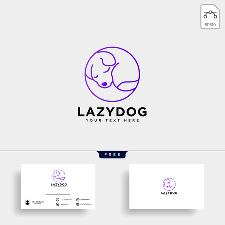 pet animals care consulting, logo template vector illustration Standard-Bild - 117445926