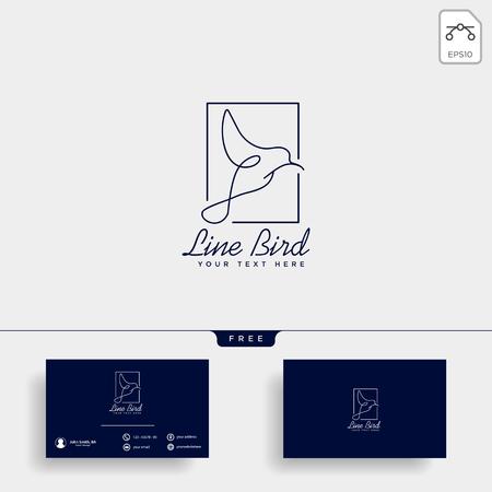 Dove Flying Bird Cosmetic Logo template vector icon