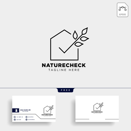 check approval agriculture eco nature logo template icon vector isolated