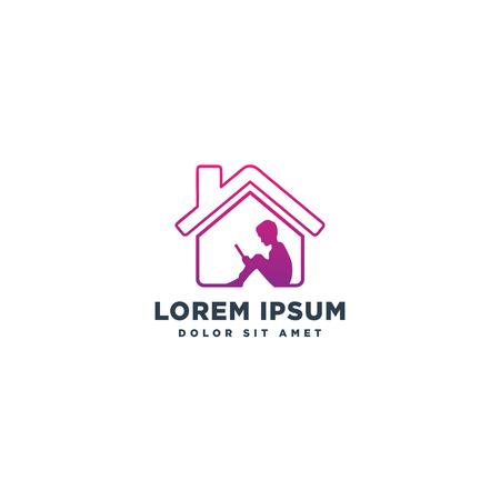 learning or education logo template vector illustration icon element isolated Ilustração
