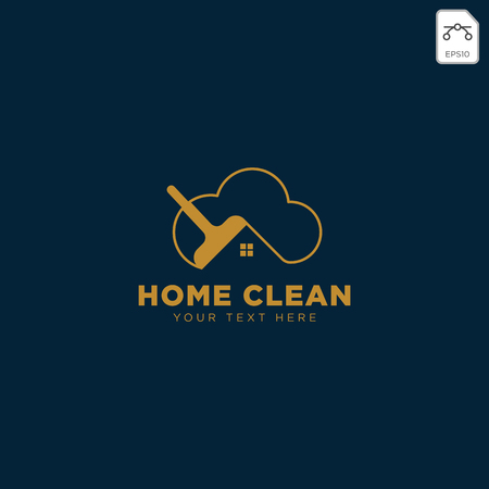 clean house or home creative logo template vector illustration icon element isolated - vector Illustration