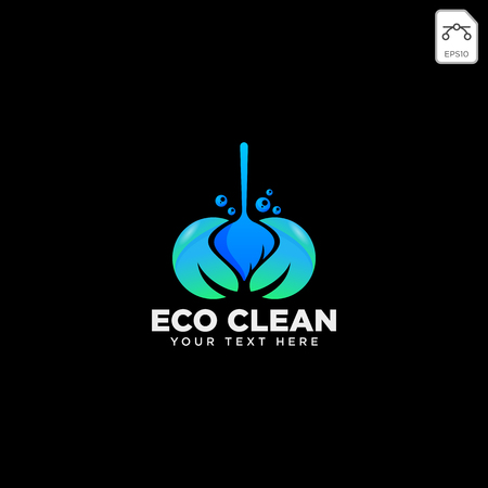 cleaning service house eco logo template vector illustration icon element isolated - vector Vettoriali