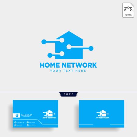 Conexión de red doméstica plantilla de logotipo ilustración vectorial icono elemento aislado - vector