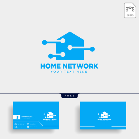 home network connection logo template vector illustration icon element isolated - vector