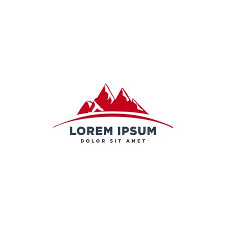mountain landscape logo template vector illustration icon element isolated - vector 일러스트