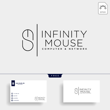 mouse typelogo text logo template vector illustration icon element isolated - vector Logo