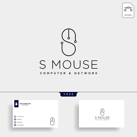 mouse typelogo text logo template vector illustration icon element isolated - vector