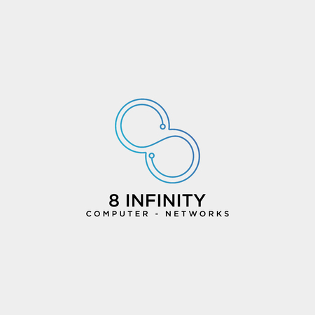 infinity technology network logo template vector illustration icon element isolated - vector