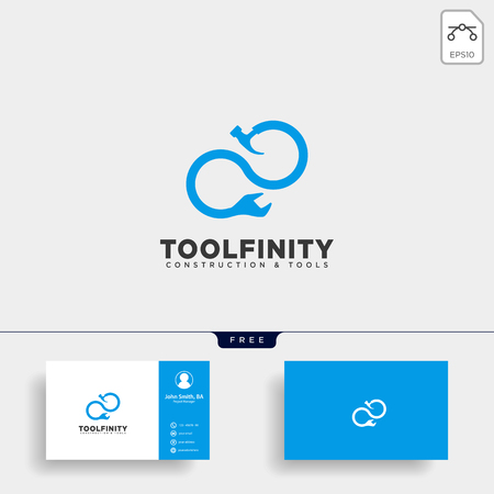 infinity construction tools logo template vector illustration icon element isolated - vector Illustration