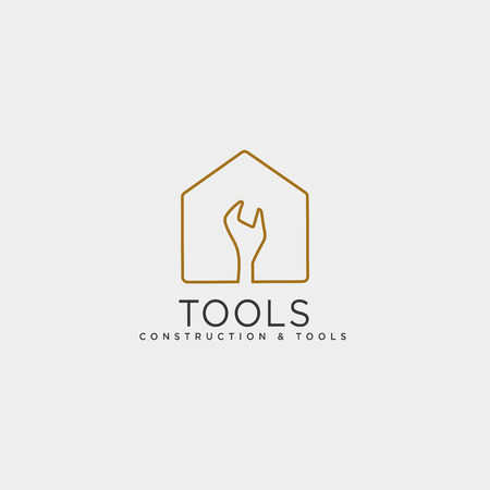 construction tools logo template vector illustration icon element isolated - vector