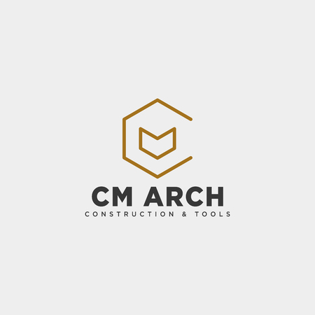letter CM simple line business logo template vector illustration icon element isolated - vector