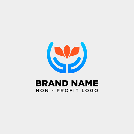 hand flower care logo template vector illustration icon element isolated - vector Logo