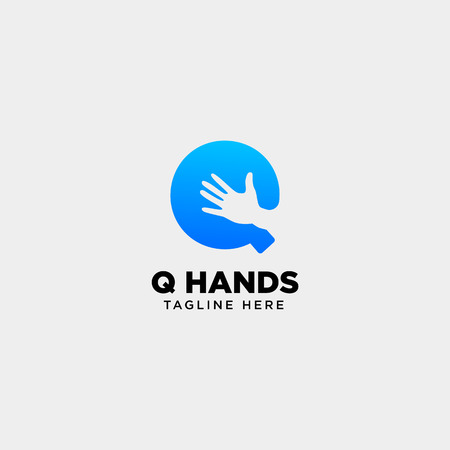 minimal q letter, initial hand logo template vector illustration icon element isolated - vector