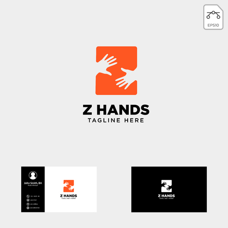 minimal z letter, initial hand logo template vector illustration icon element isolated - vector Vectores
