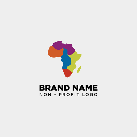 africa care non profit logo template vector illustration icon element isolated - vector Illustration