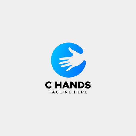 minimal C letter, initial hand logo template vector illustration icon element isolated - vector