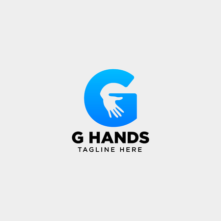 minimal G letter, initial hand logo template vector illustration icon element isolated - vector Logo
