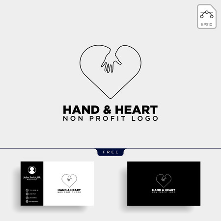 love care give heart logo template vector illustration icon element isolated - vector