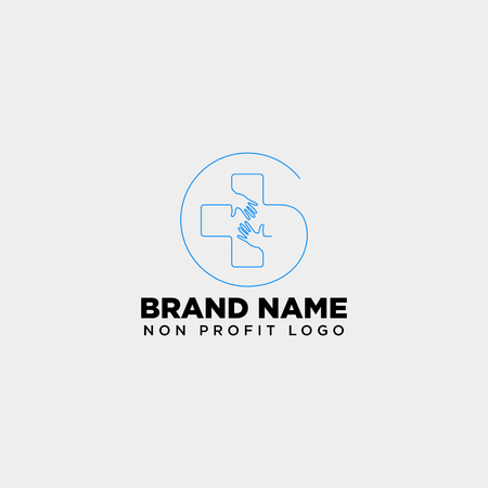 cross hand medical health care logo template vector illustration icon element isolated - vector