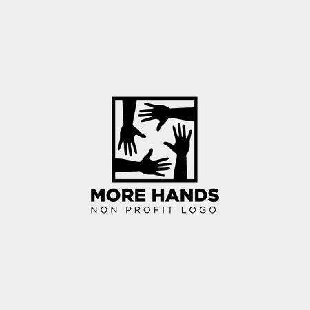 hand care non profit logo template vector illustration icon element isolated - vector